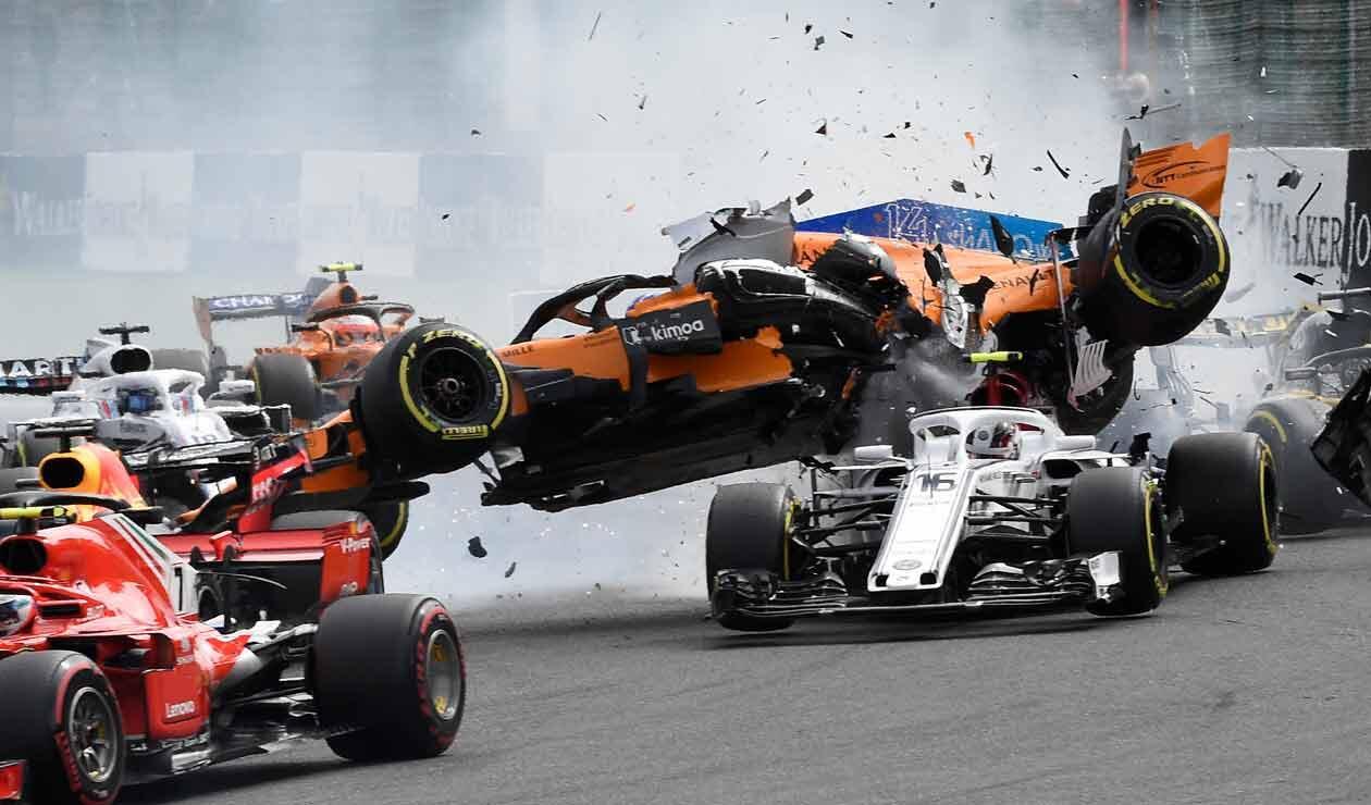Impactante accidente de Fernando Alonso en el Gran Premio de Bélgica de Fórmula 1