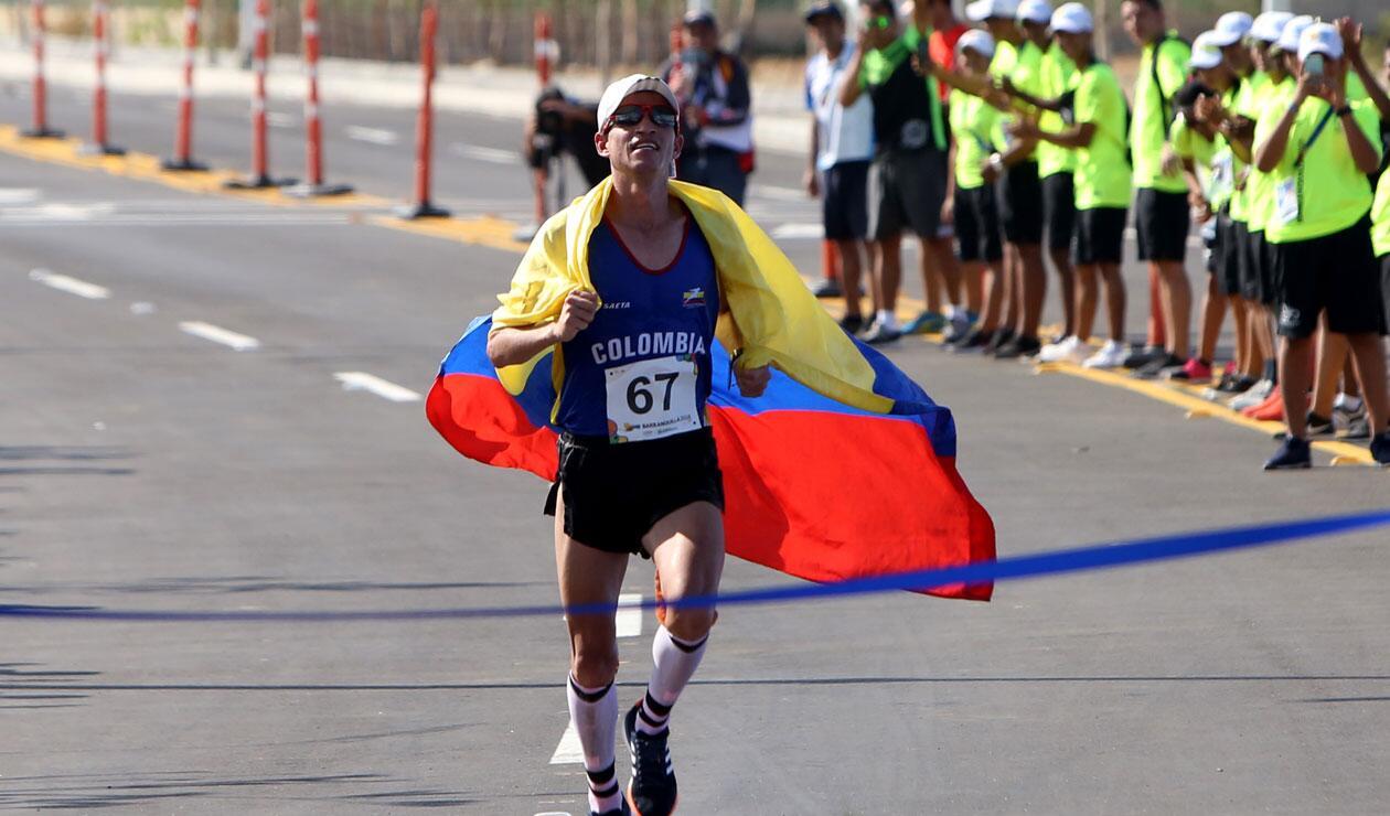 Jeison Suárez, ganador del oro en los Juegos Centroamericanos y del Caribe Barranquilla 2018