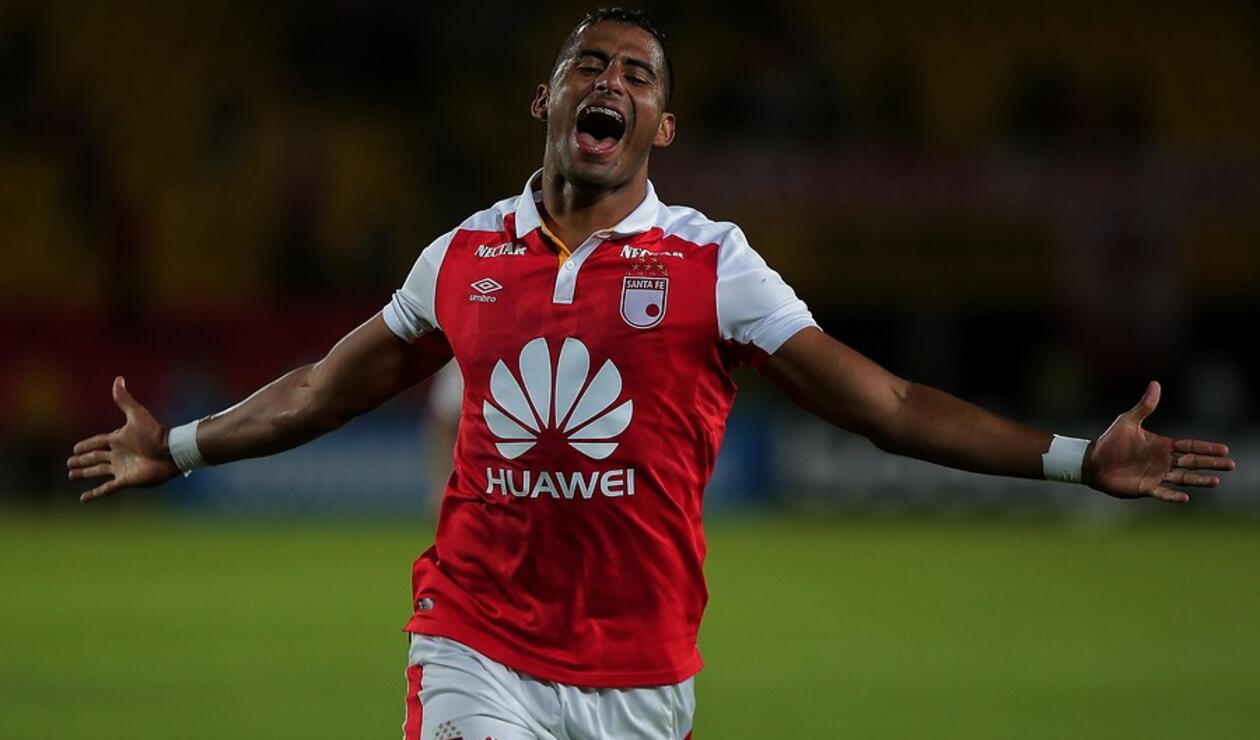 Carlos Henao fue la figura de Santa Fe en la Copa Sudamericana ante Rampla Juniors