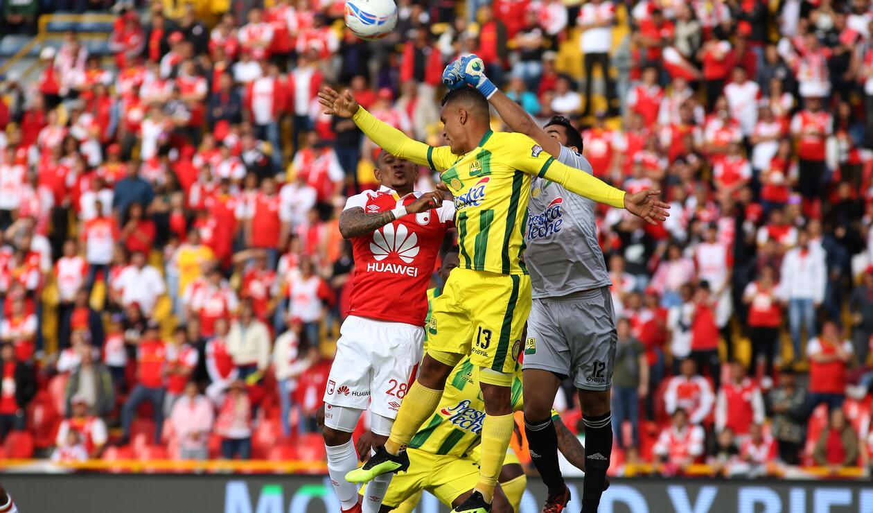 Santa Fe vs Bucaramanga en la Liga Águila