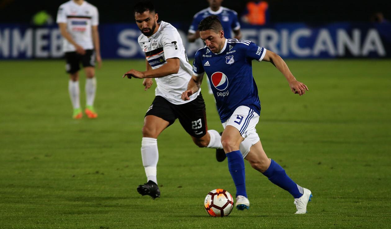 Gabriel Hauche, una de las figuras de Millonarios ante General Díaz en la Copa Sudamericana