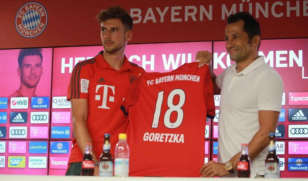 Leon Goretzka es presentado oficialmente por el Bayern Múnich como nuevo refuerzo