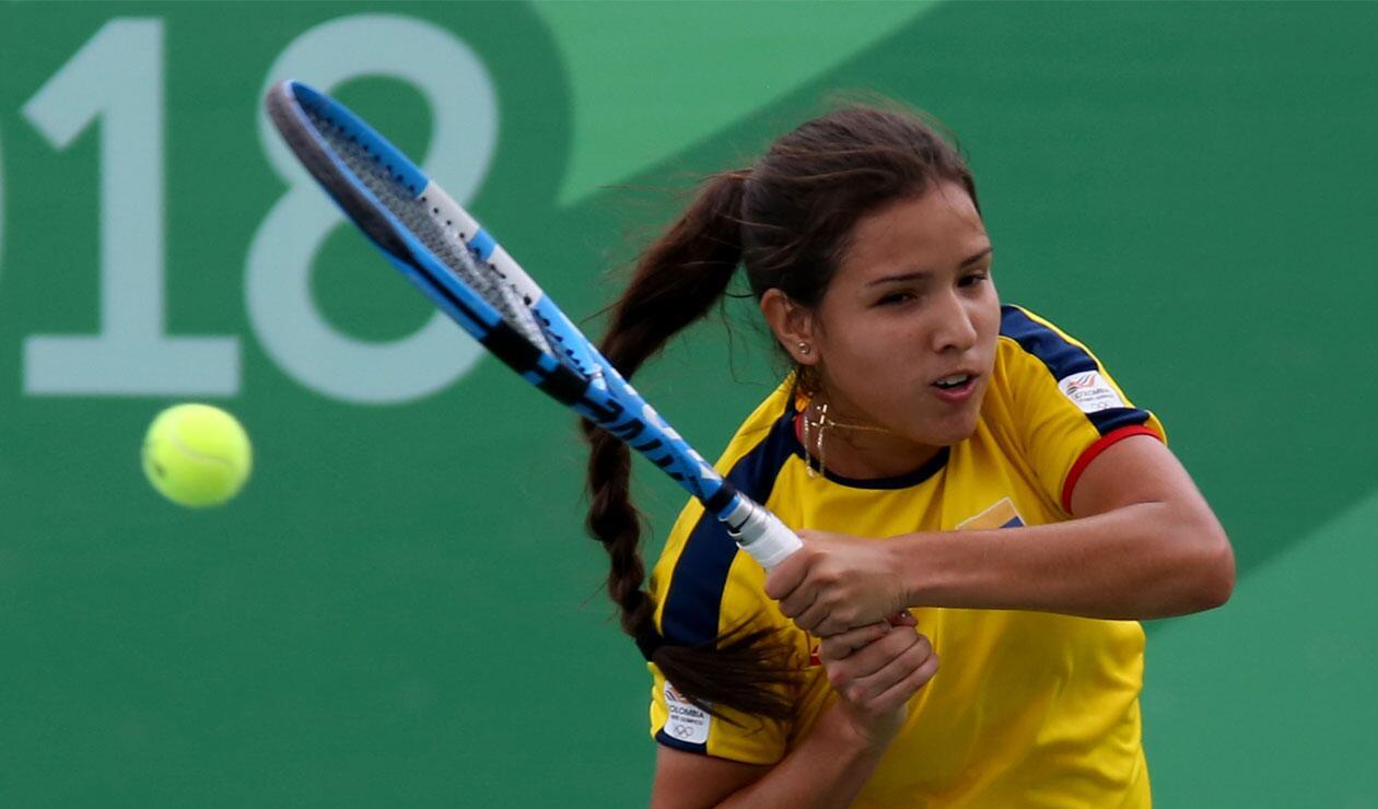 María Camila Osorio, tenbista colombiana que logró el oro en los Juegos Centroamericanos y del Caribe Barranquilla 2018
