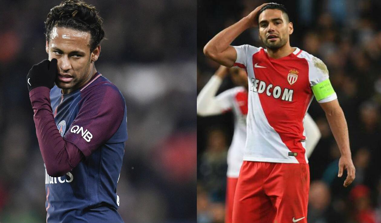 Neymar y Falcao se reencontrarán este temporada en la Ligue 1