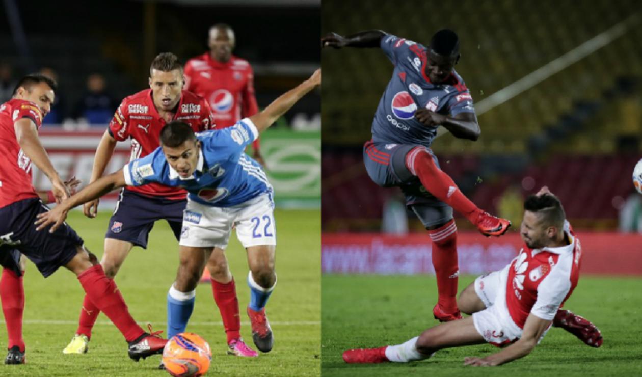 Millonarios vs Medellín y América vs Santa Fe