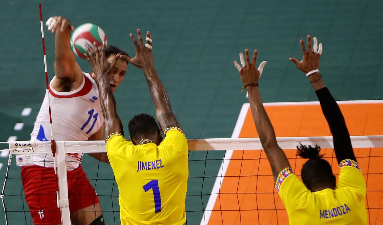 Final voleibol masculino, Colombia - Puerto Rico