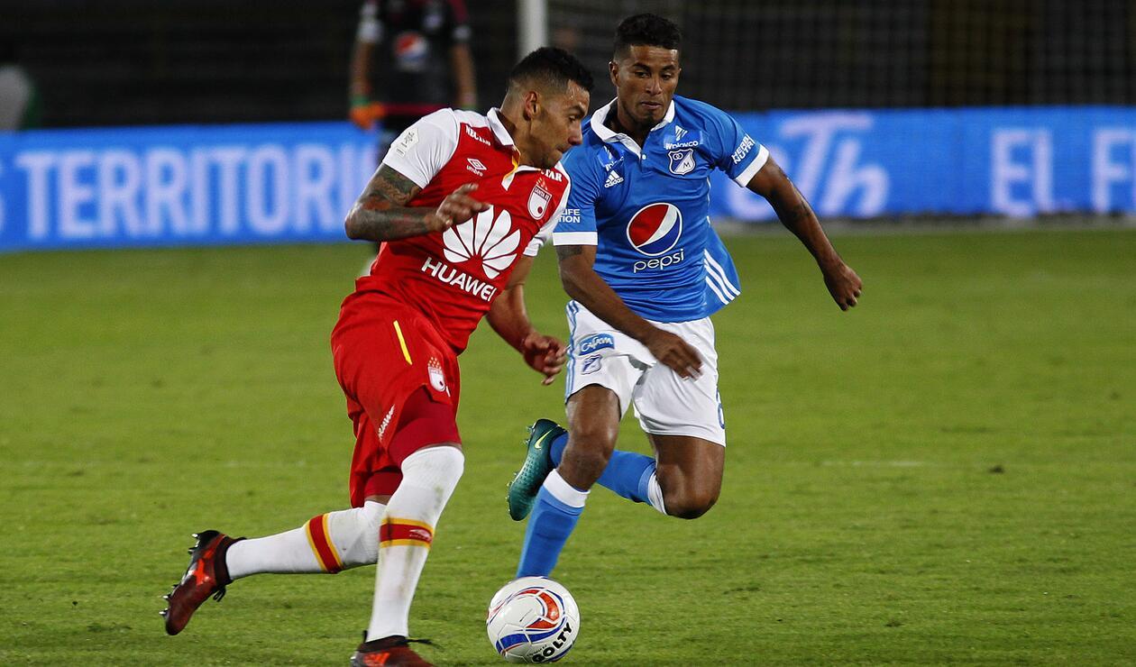 Santa Fe vs Millonarios disputarán los octavos de final de la Sudamericana