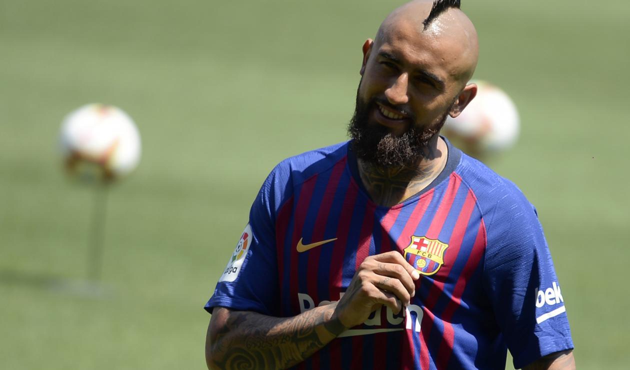 Arturo Vidal presentado como jugador del FC Barcelona