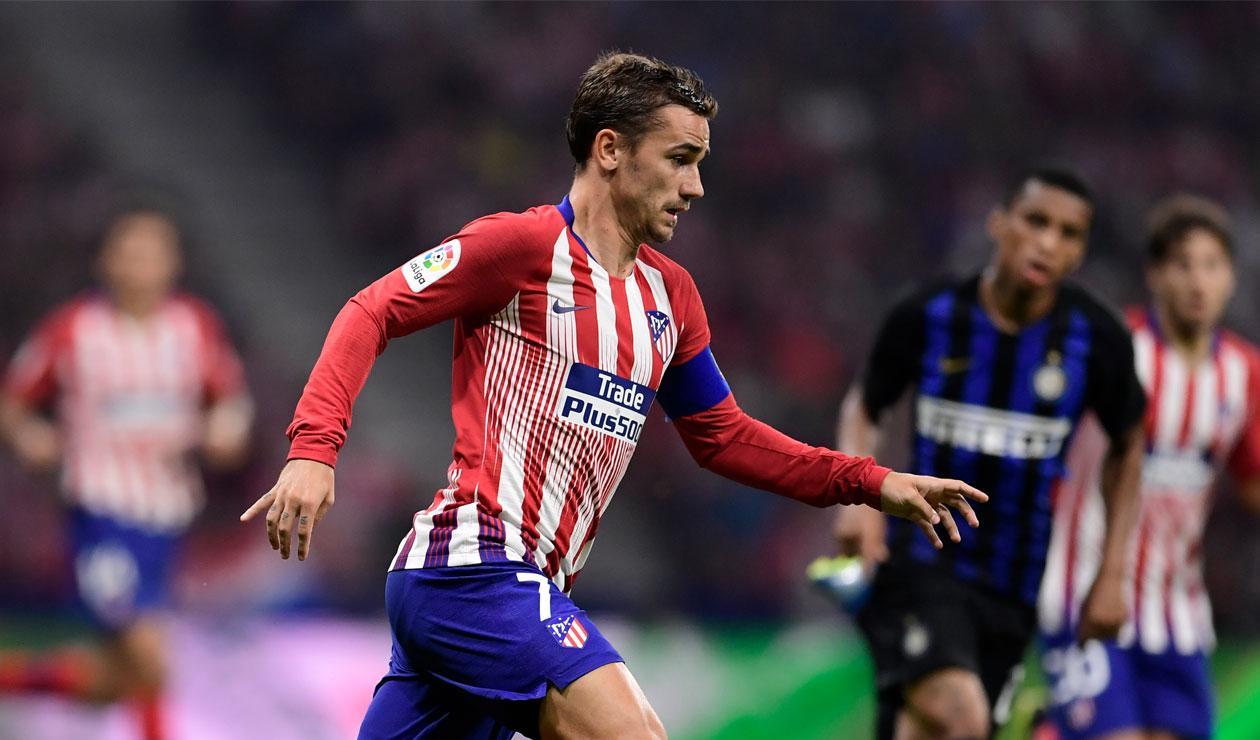 Atlético de Madrid en la derrota ante el Ínter de Milán