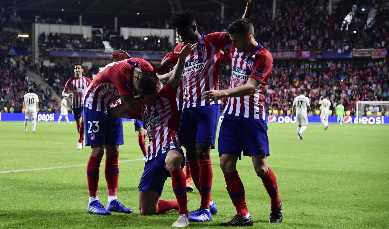 Saúl Níguez marcó el 2-3 en la Supercopa de Europa