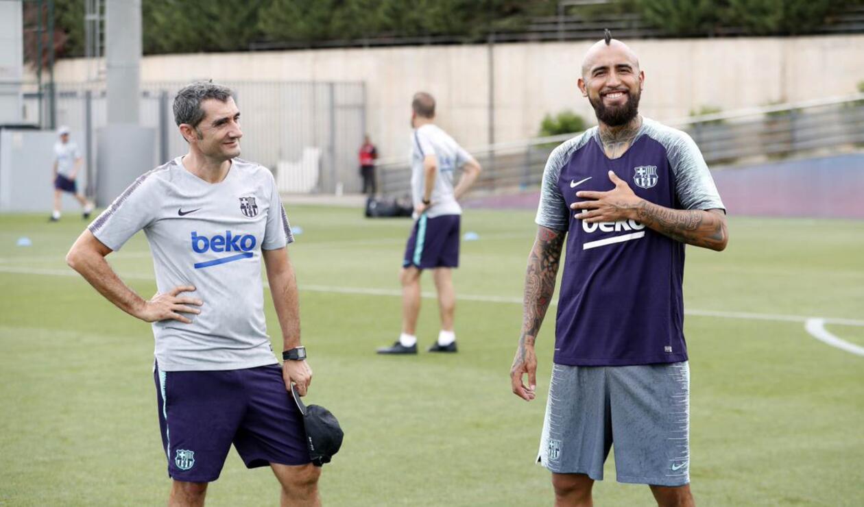 Ernesto Valverde y Arturo Vidal