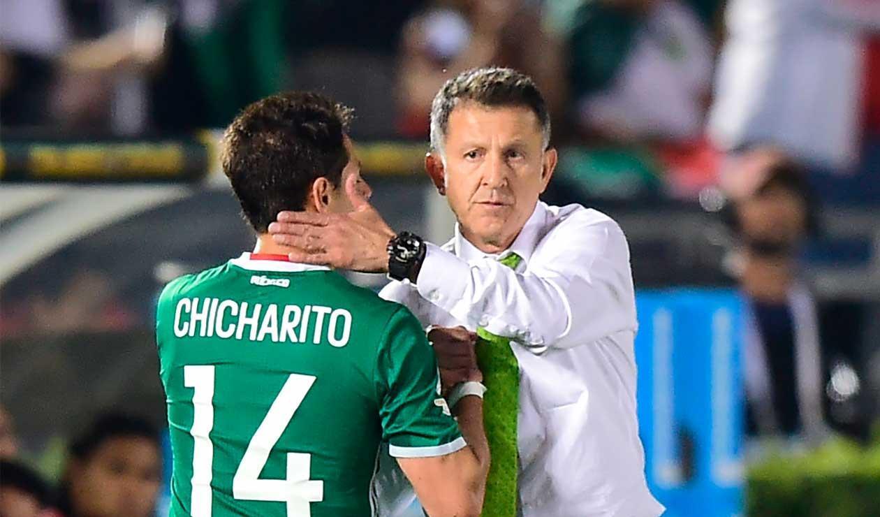 Juan Carlos Osorio y Javier 'Chicharito' Hernández