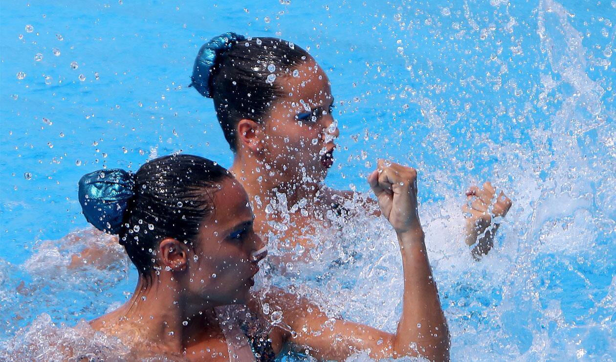 Las colombianas en el nado sincronizado de los Juegos Centroamericanos y del Caribe Barranquilla 2018