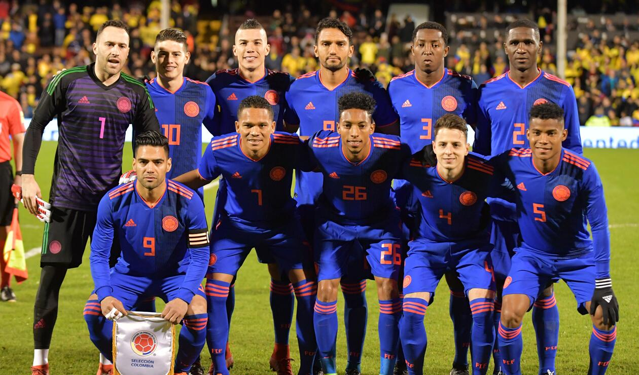 Once titular de Colombia ante Australia