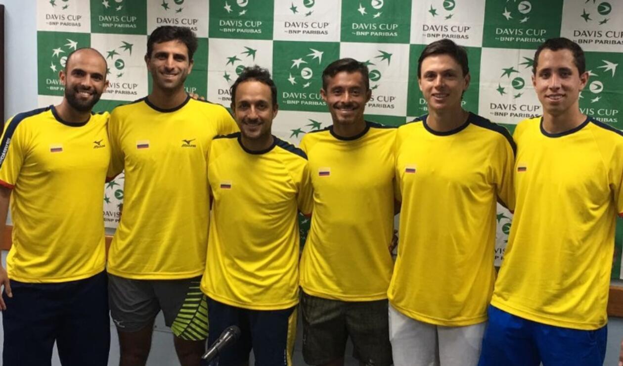 Selección Colombia de Copa Davis que estará en el enfrentamiento ante Suecia