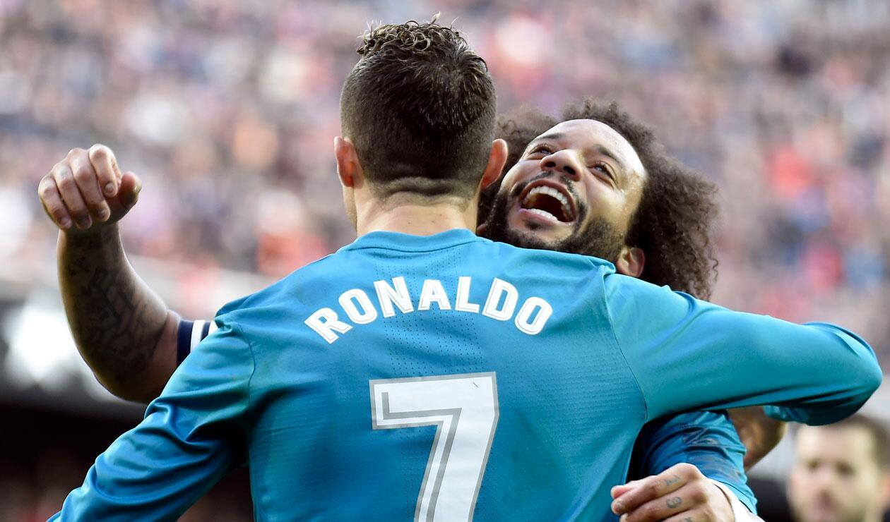 Cristiano Ronaldo y Marcelo en su época como jugadores del Real Madrid