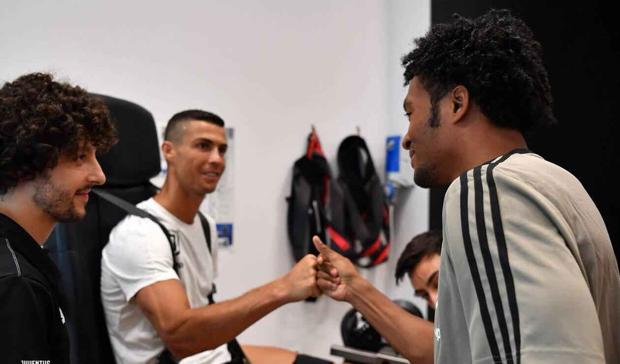 Cuadrado y Cristiano Ronaldo