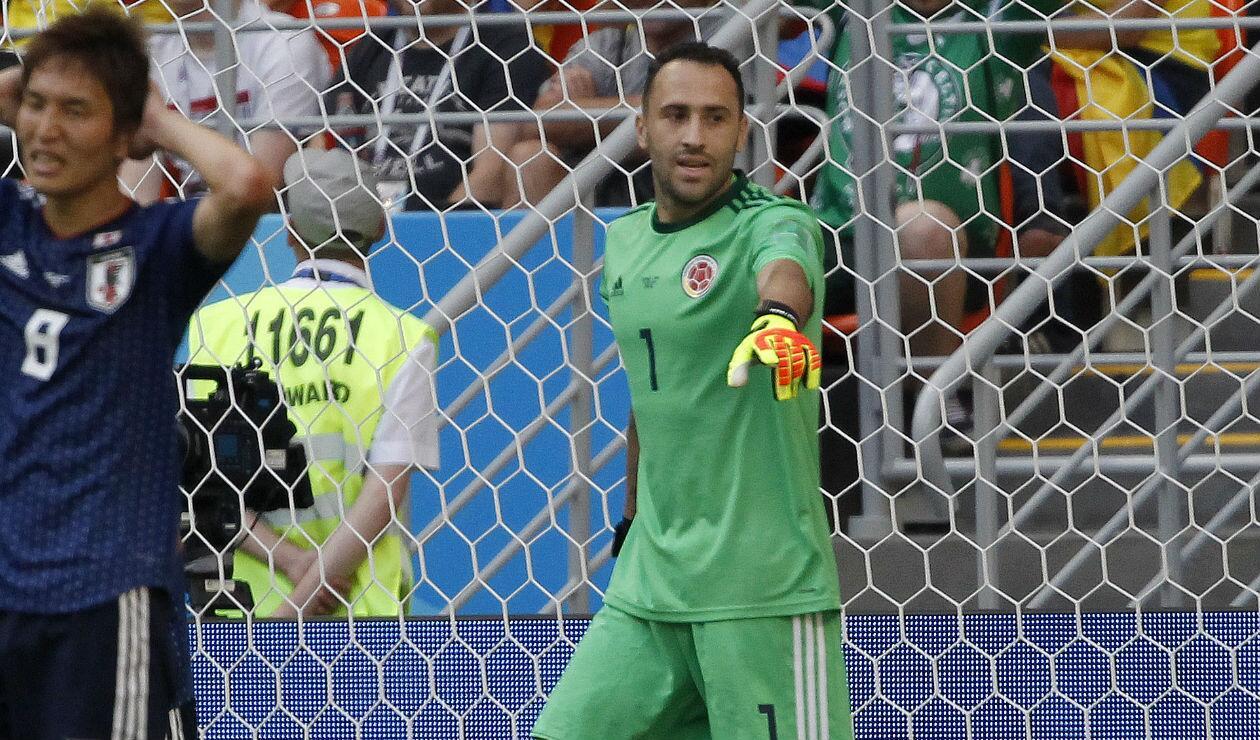David Ospina defendiendo el arco de Colombia ante Japón en Rusia 2018