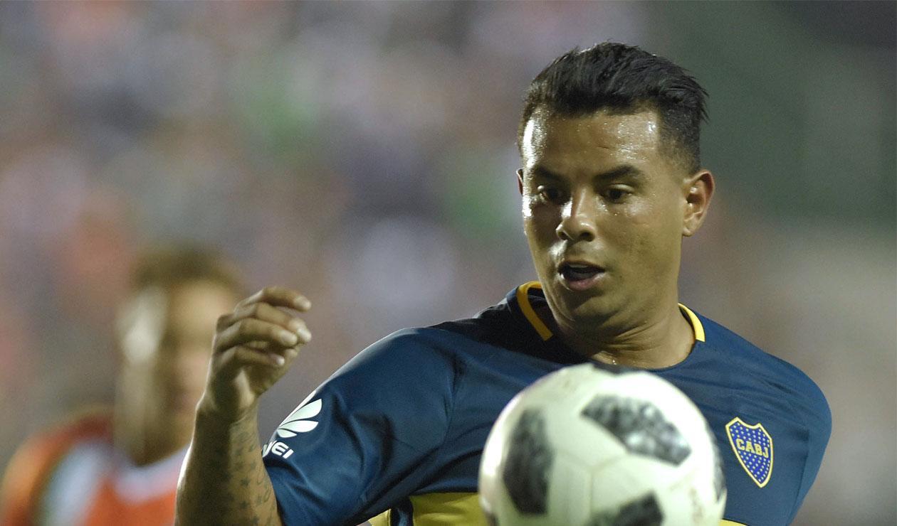 Edwin Cardona ingresó sobre el final del partido entre Boca Juniors y Talleres
