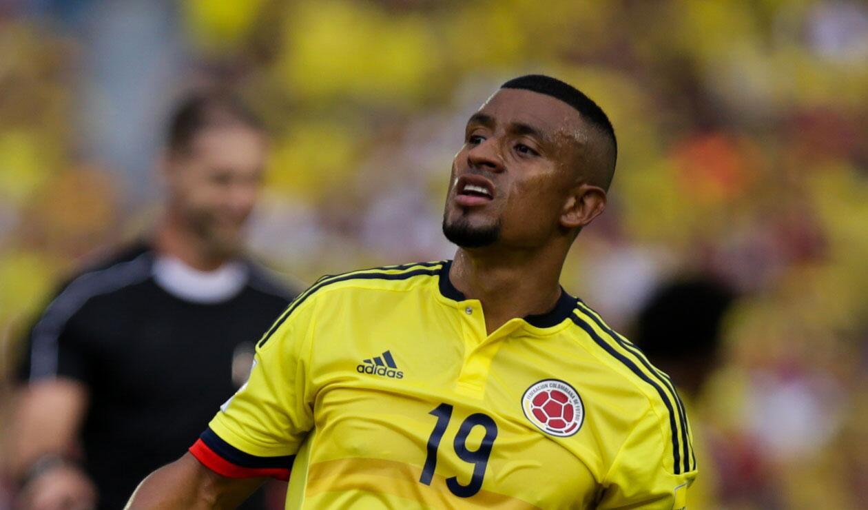 Farid Díaz en un partido de la Selección Colombia