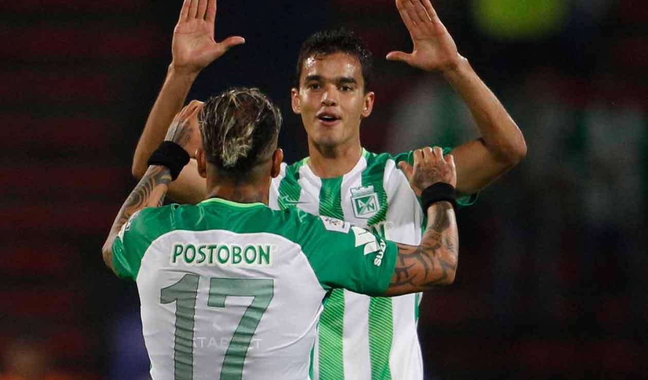 Felipe Aguilar, lesionado con Atlético Nacional en el partido ante Alianza Petrolera