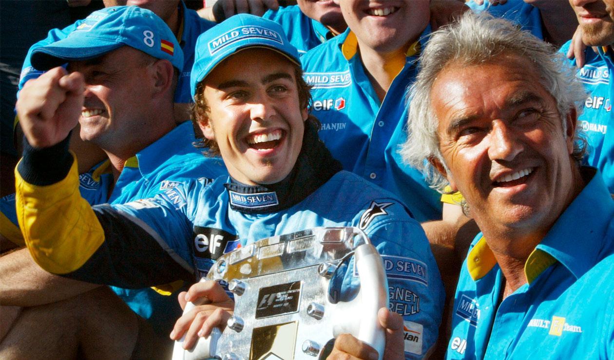 Fernando Alonso en los años donde brilló con Renault y ganó dos títulos de Fórmula 1