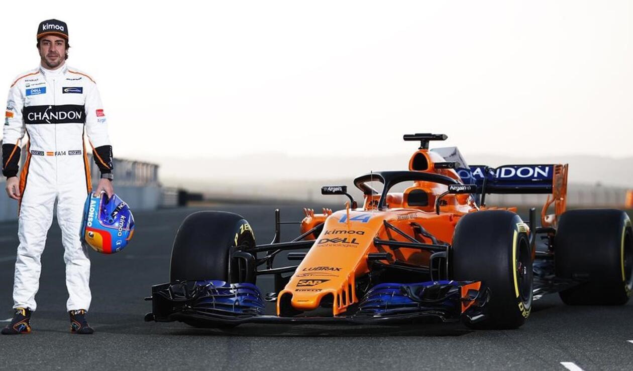 Fernando Alonso en la presentación de su monoplaza de McLaren-Renault