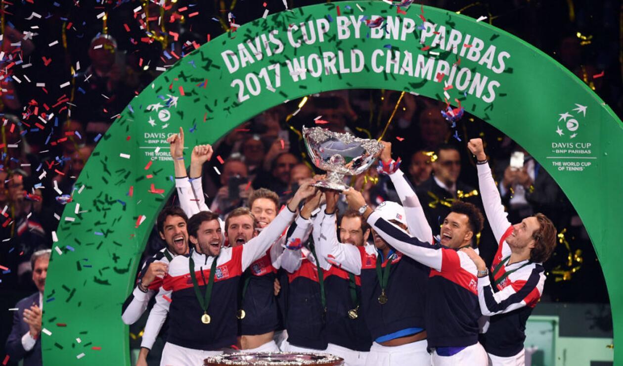 Francia y Bélgica jugaron la final de Copa Davis en 2017