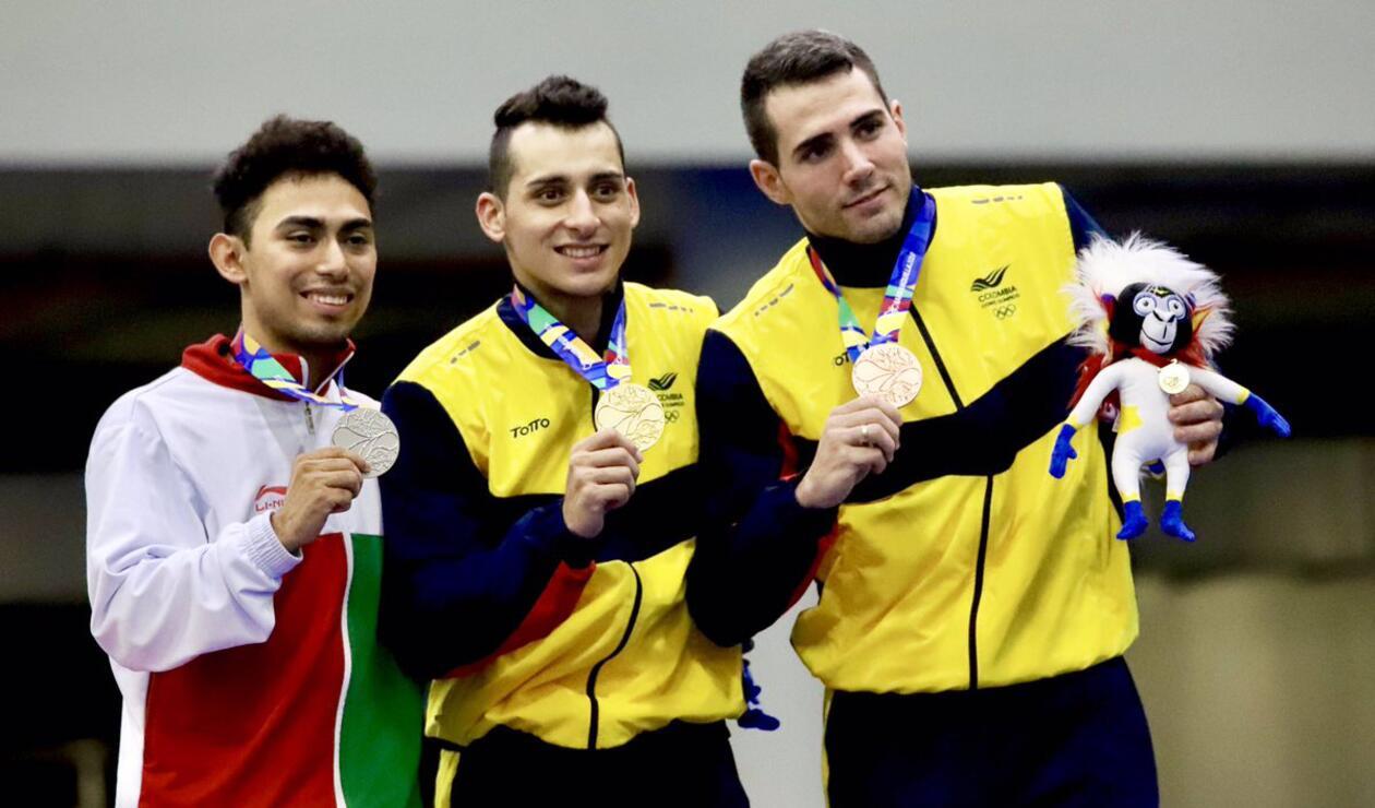 Ángel Hernández y Álvaro Calero Oro y Bronce en Gimnasia Trampolín