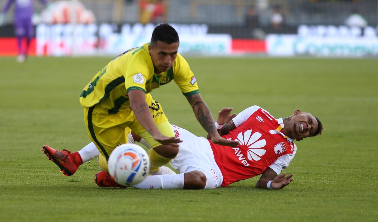 Santa Fe vs Bucaramanga en la sexta fecha de la Liga Águila