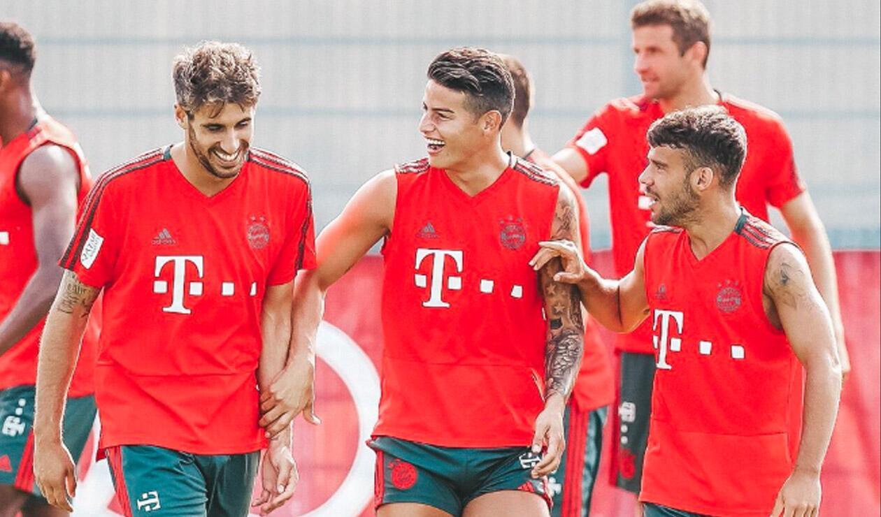 James Rodríguez entrenando con el Bayern Múnich