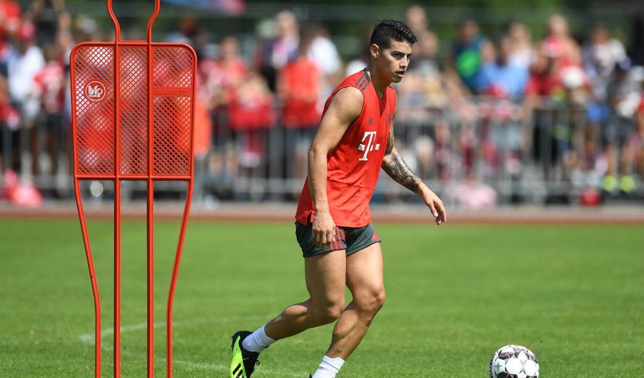 James Rodríguez con el Bayern Múnich
