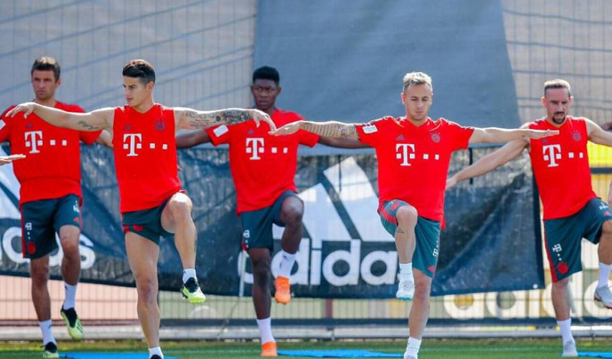James Rodríguez entrenándose con el Bayern Múnich
