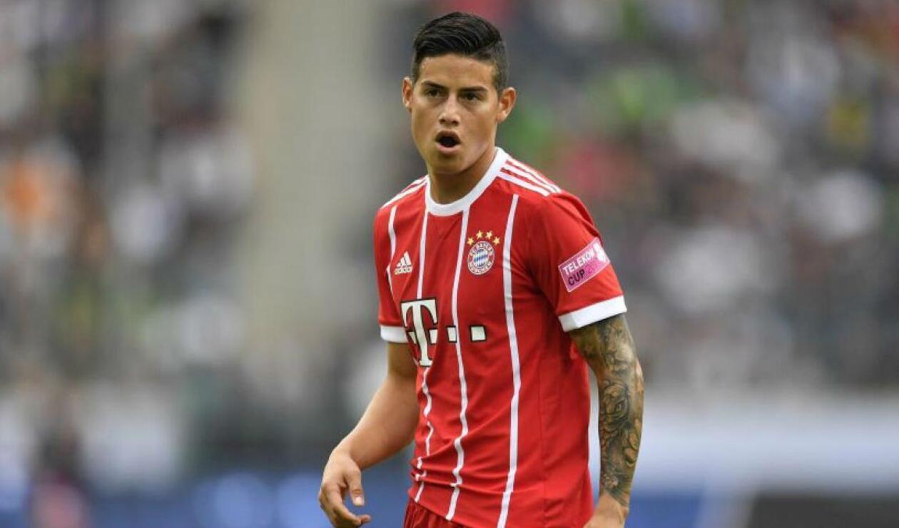 James Rodríguez, centrocampista del Bayern Múnich