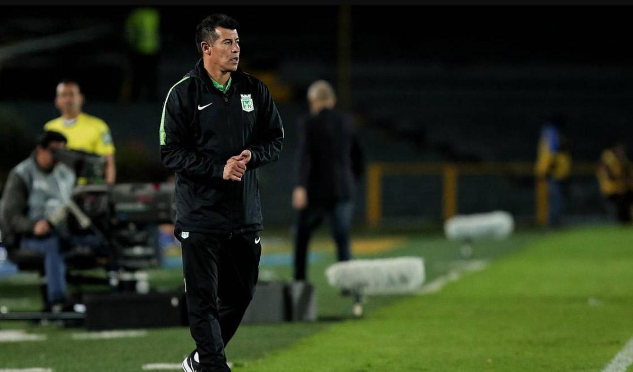Jorge Almirón, técnico de Atlético Nacional, fue suspendido por la Dimayor