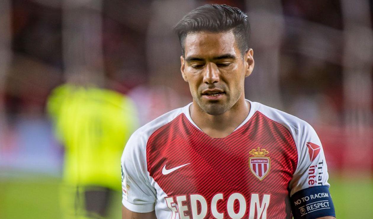 Falcao en el partido donde Mónaco igualó ante el Lille