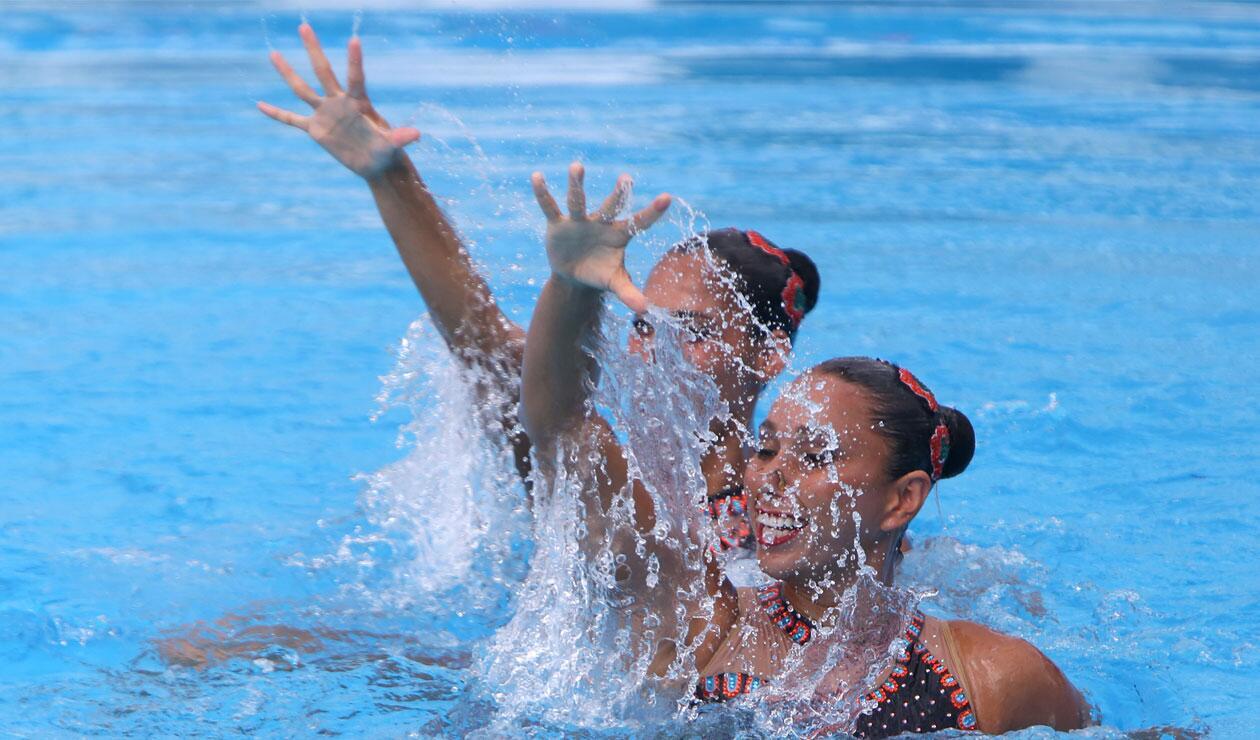 Dueto mexicano en el nado sincronizado de los Juegos Centroamericanos y del Caribe Barranquilla 2018