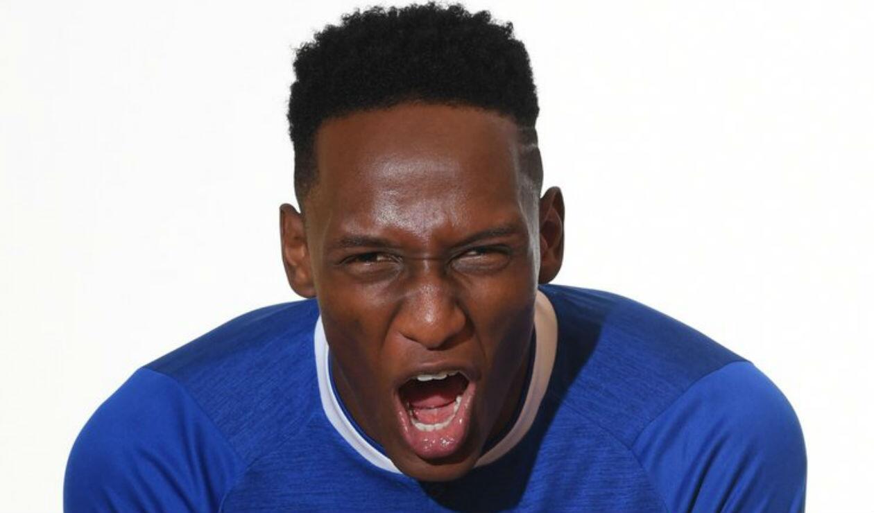 Yerry Mina, jugador del Everton de Inglaterra
