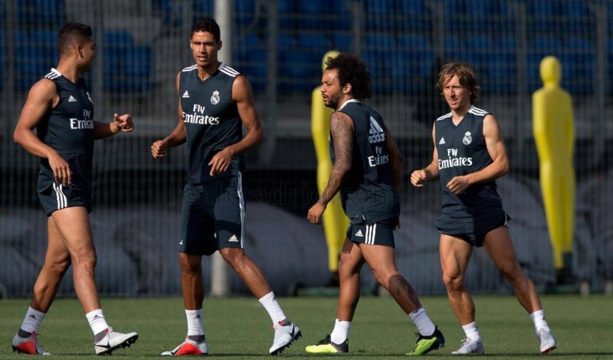 Luka Modric regresa a los entrenamientos con el Real Madrid