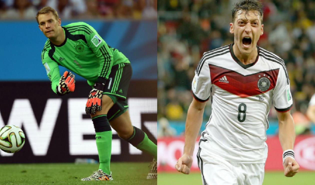 Manuel Neuer y Mesut Özil