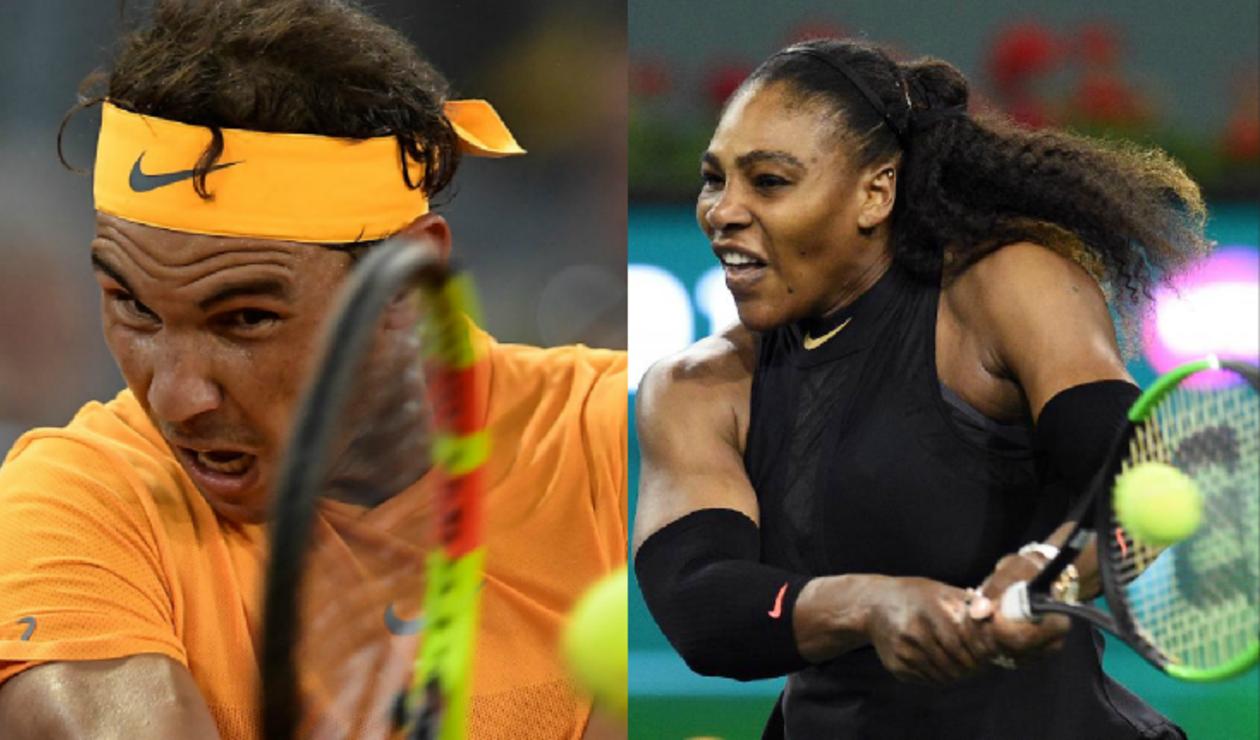 Rafael Nadal, tenista español  y Serena Williams, tenista estadounidense