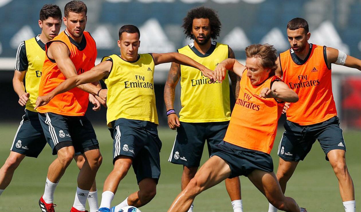 Real Madrid en una sesión de entrenamiento