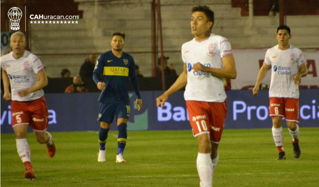 Andrés Felipe Roa debutó con Huracán en la Superliga Argentina