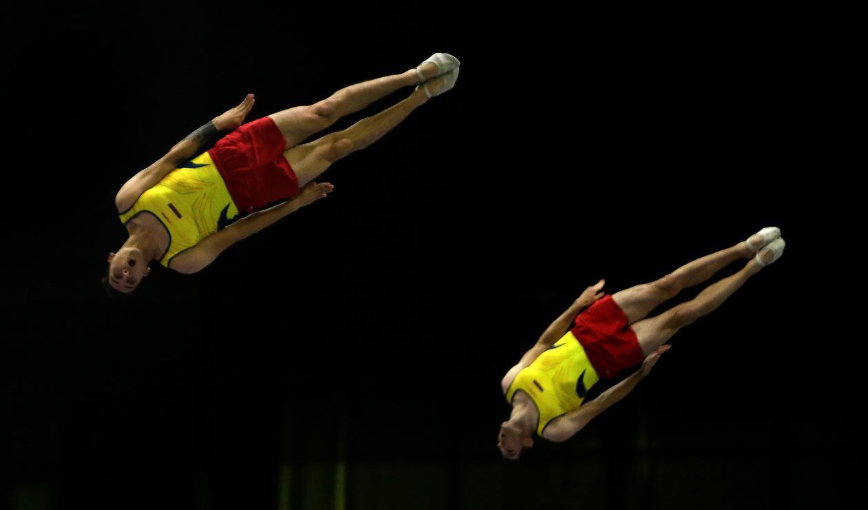 Juegos Centroamericanos y del Caribe Barranquilla 2018  recibió la prueba de trampolín por parejas