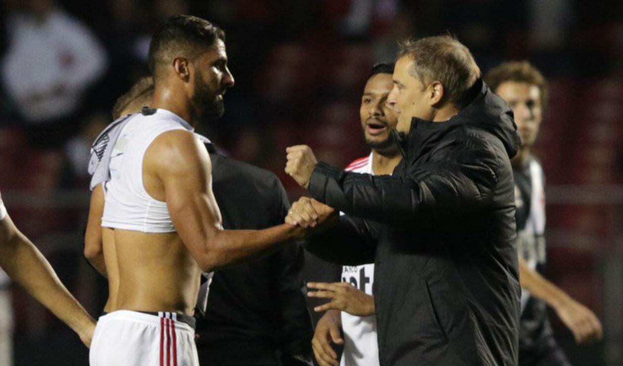 Santiago Tréllez y Diego Aguirre del Sao Paulo