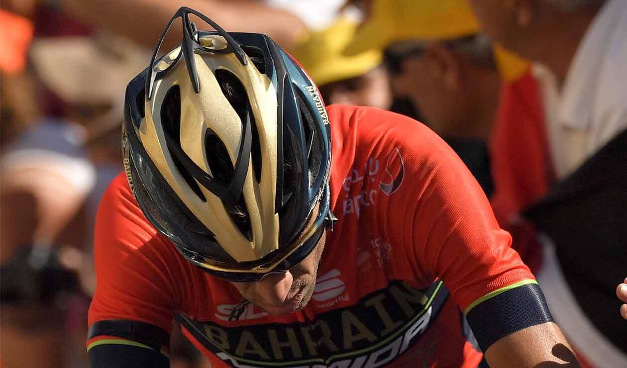 Vincenzo Nibali, uno de los grandes perjudicados en la segunda etapa de la Vuelta a España