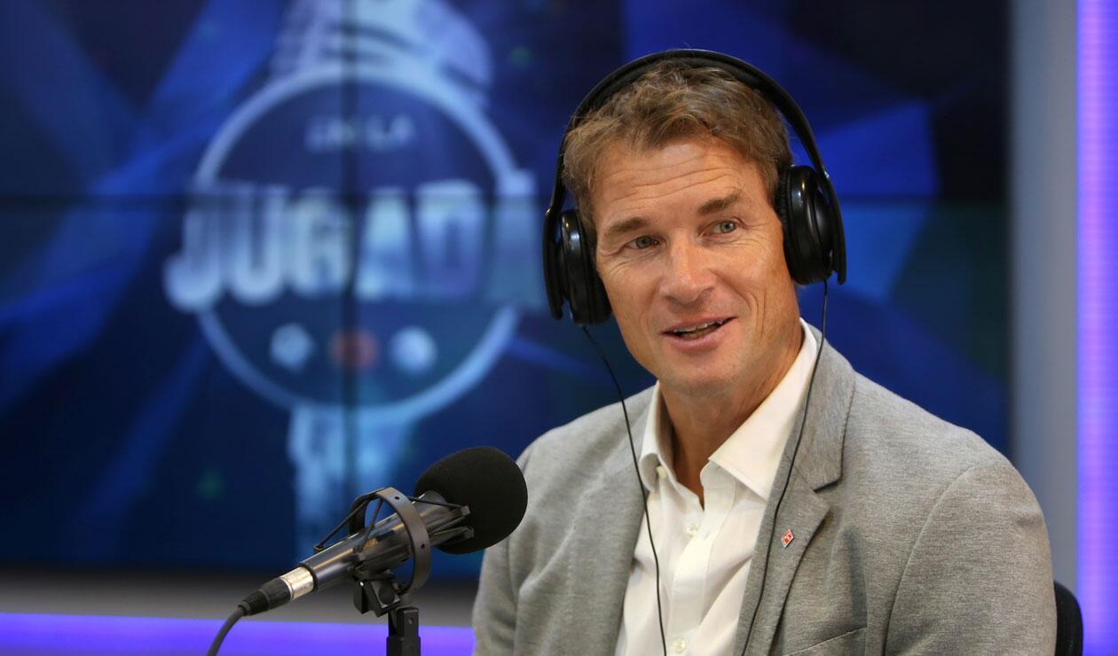 Jens Lehmann en entrevista con el programa En La Jugada de RCN Radio, hablando de James Rodríguez