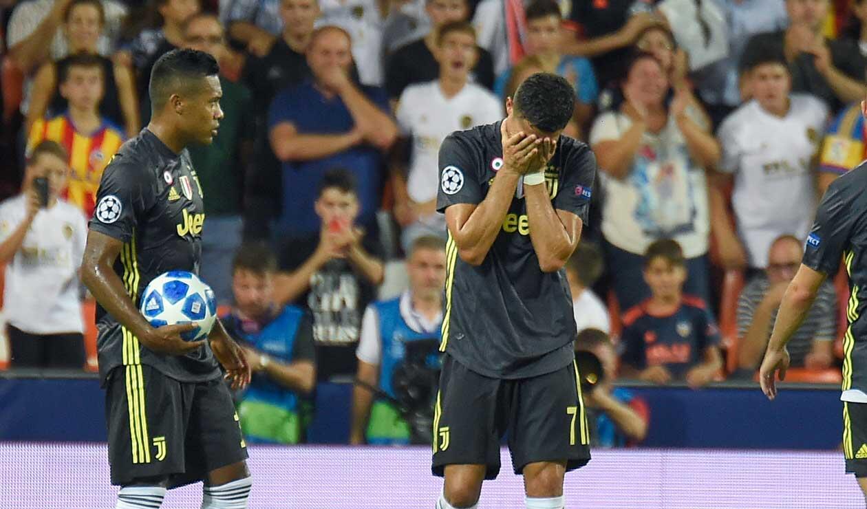 Cristiano Ronaldo llora luego de recibir la tarjeta roja ante Valencia