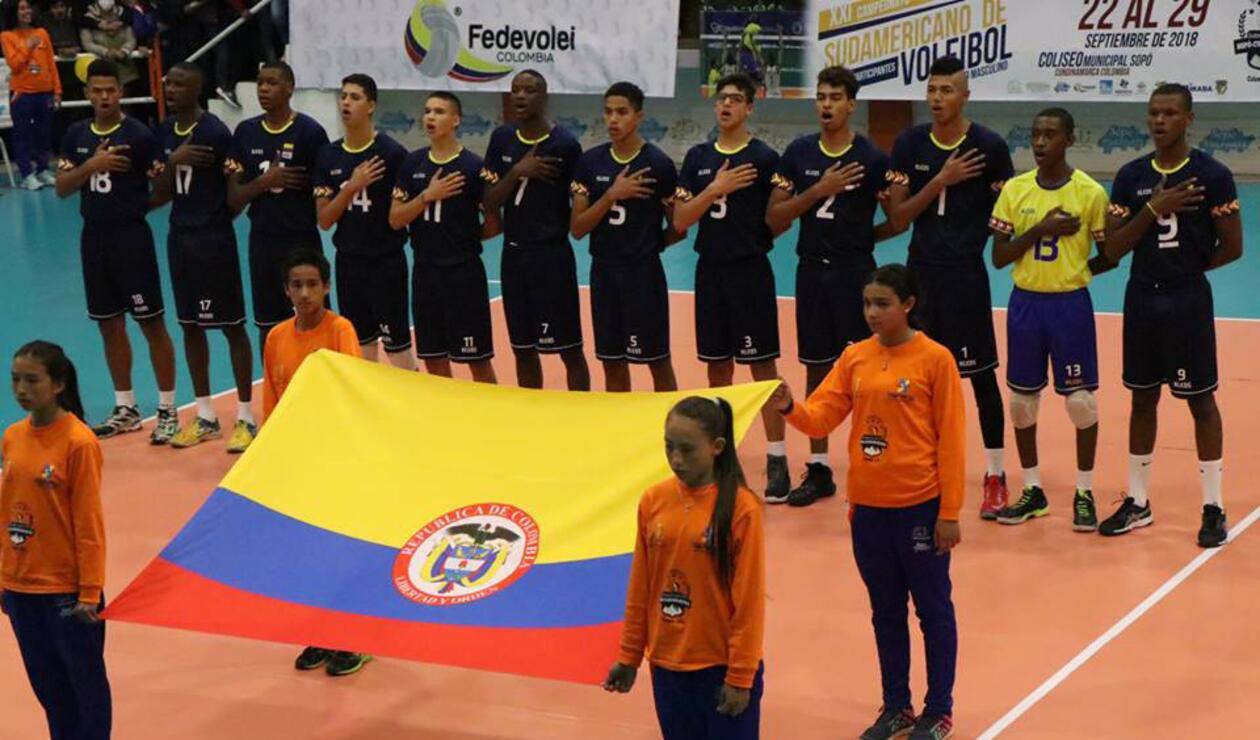 Equipo Sub 19 de voleibol de Colombia