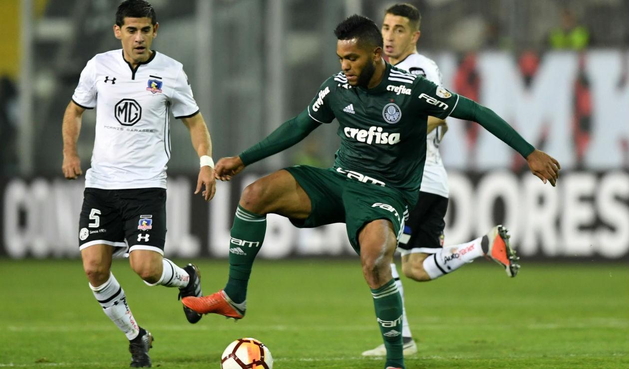 Miguel Borja, delantero de Palmeiras